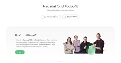 Proč jsme přišli s platformou Nadačního fondu Podpořit